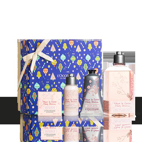Körperpflege-Geschenkbox Kirschblüte