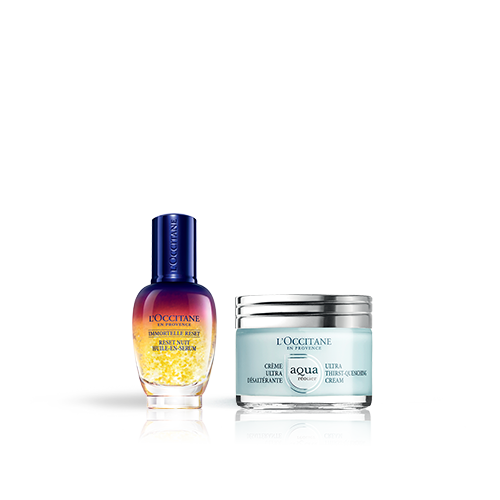 Duo Immortelle Overnight Reset Öl-in-Serum & Aqua Réotier Gesichtscreme