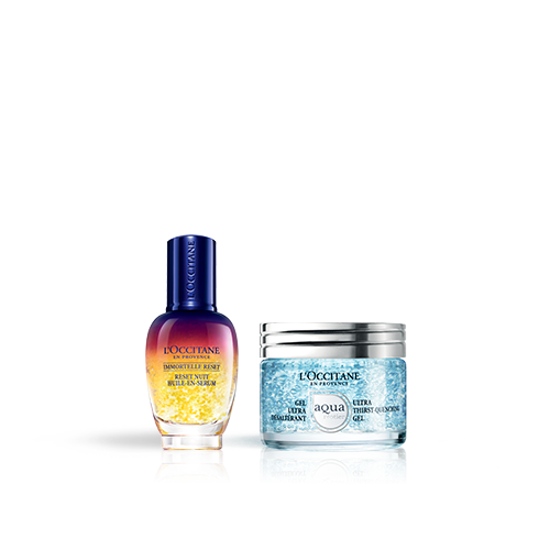 Duo Immortelle Overnight Reset Öl-in-Serum & Aqua Réotier Gesichtsgel