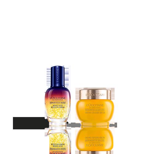 Duo Immortelle Overnight Reset Öl-in-Serum & Creme Divine Leichte Textur LSF 20