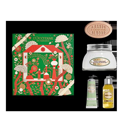 Mandel Belebende & Straffende Körperpflege-Geschenkbox