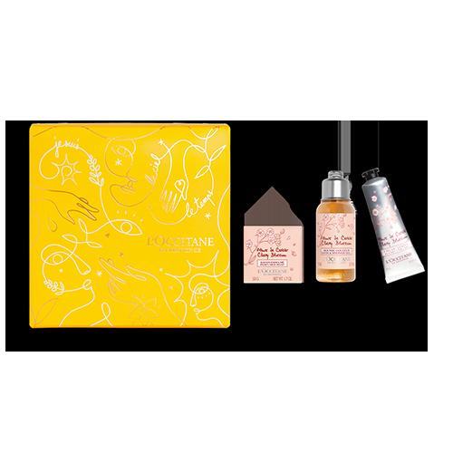 Mini-Körperpflege-Geschenkbox Kirschblüte