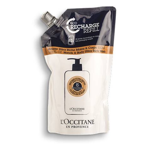 Öko-Nachfüllpackung Sheabutter Ultra Riche Hand- & Körperwaschlotion 500ml