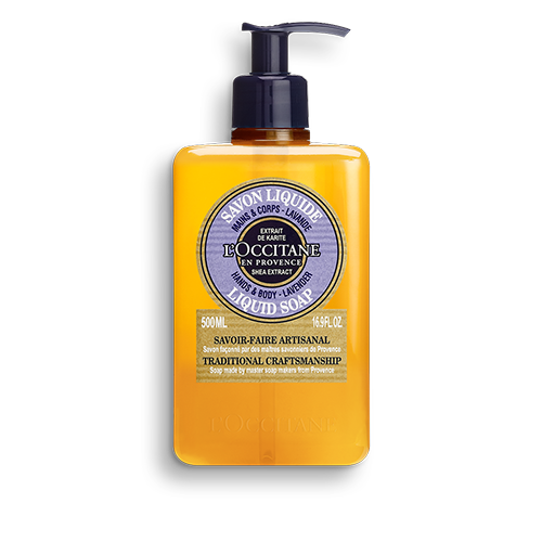 Luxury Size Shea Lavender Hands & Body Liquid Soap