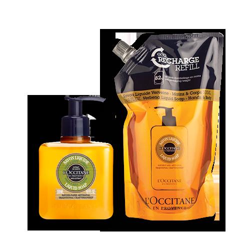 Shea Verbena Hands & Body Liquid Soap Refill Duo