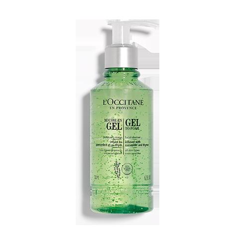 Gel to Foam Facial Cleanser