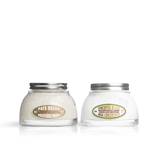 Dúo de Cuerpo  Pâte Délice  y  Concentrado de Leche de Almendra