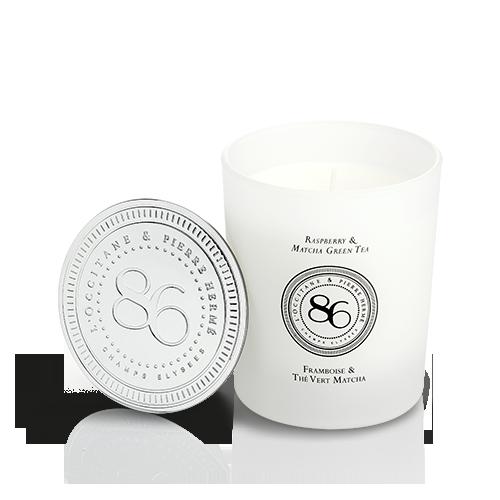 Collection de Parfums 86 Champs - Bougie Framboise & Thé Vert Matcha