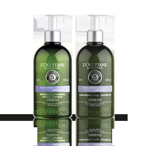 Duo Shampooing et Après-shampooing Equilibre & Douceur Aromachologie
