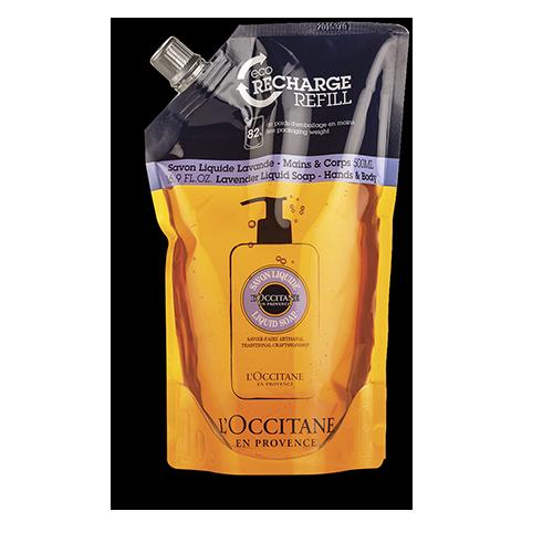 Eco-Recharge Savon liquide Mains & Corps Karité Lavande 500 ml