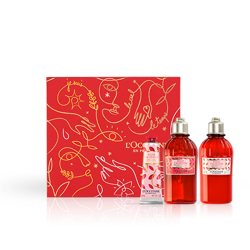 Coffret Soins Corps Gourmand Rose Calisson