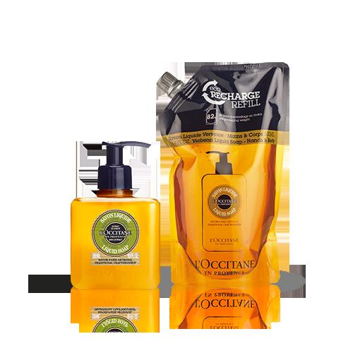 Duo Savon Liquide Verveine 300ml et son Eco-recharge