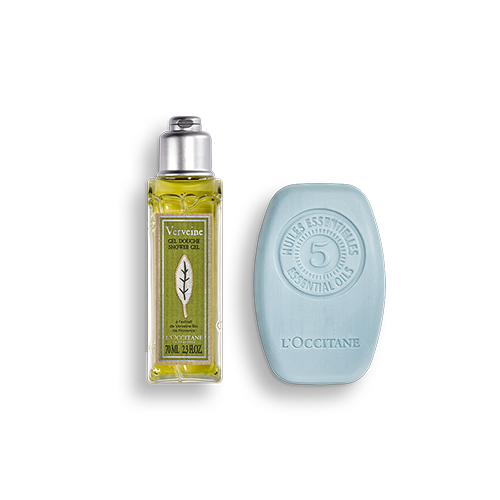 Duo Shampoing Solide Fraîcheur Purifiante 60gr et Gel Douche Verveine 75ml