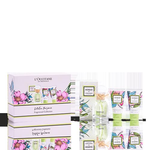 Coffret Cadeau Parfum et Corps HERBAE par L'OCCITANE