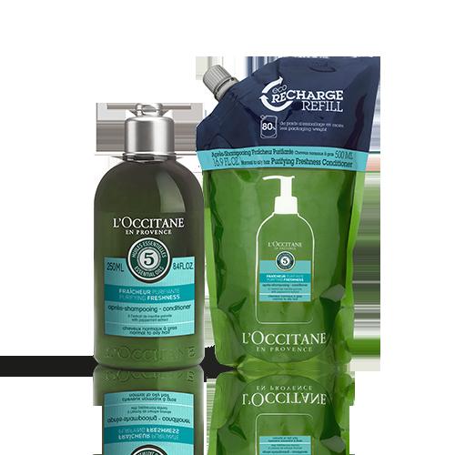 Duo Après-shampooing Fraicheur Purifiante  250ml + 500ml