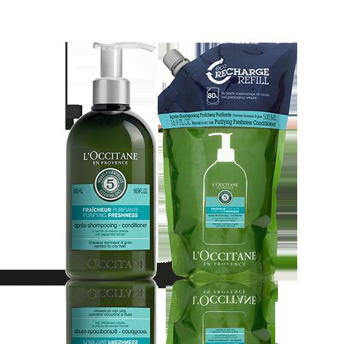 Duo Après-shampooing Fraicheur Purifiante 2x500ml