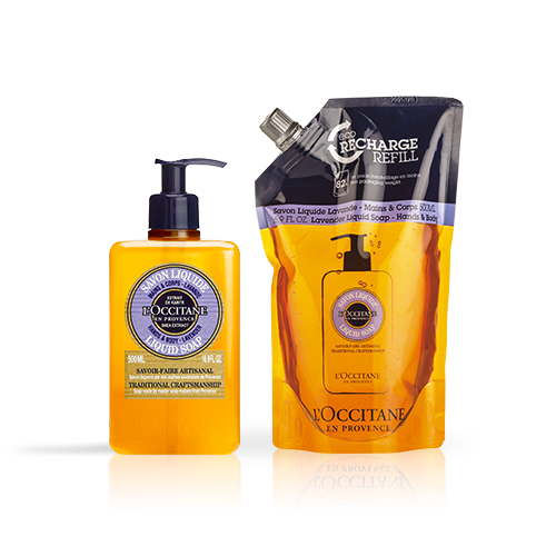Duo Savon Liquide Lavande 500ml et son Eco-recharge