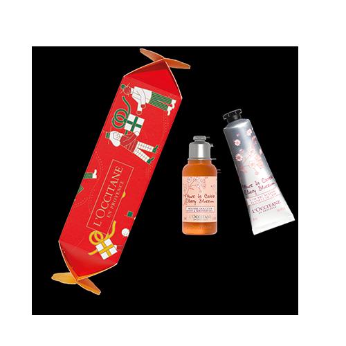Cracker di Natale trattamenti corpo Fiori di Ciliegio