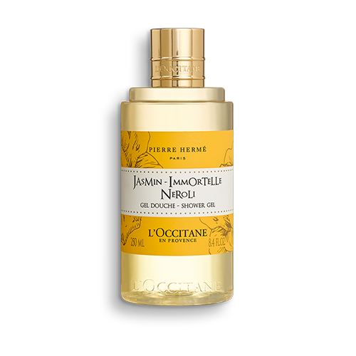 This shower gel gently cleanses the skin and leaves it delicately perfumed with a luminous, captivating scent that blends white flowers with Corsican immortelle.