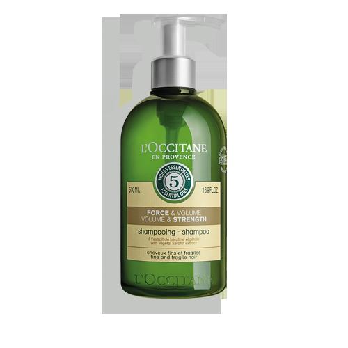 Stiprinamasis apimties suteikiantis šampūnas