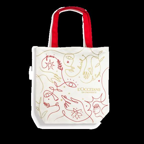 Šventinis pirkinių krepšys iš perdirbtos medvilnės