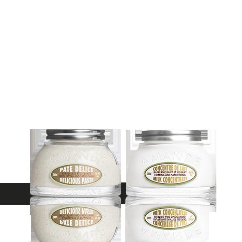 Duo Almond Delicious Paste scrubcrème en Melkconcentraat