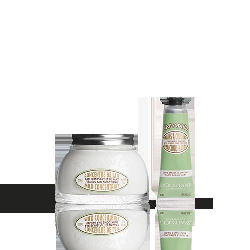 Duo Almond Heerlijke Handcrème en Almond Melkconcentraat