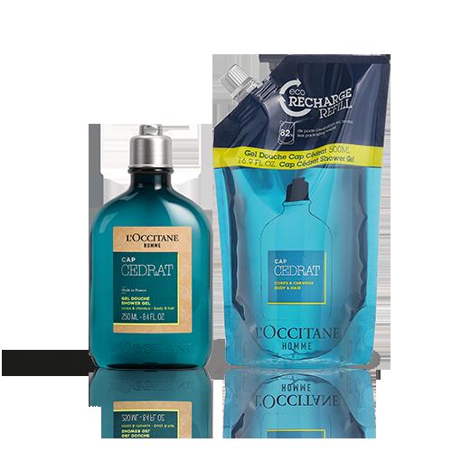 Duo Cap Cedrat Douchegel met Eco-Refill