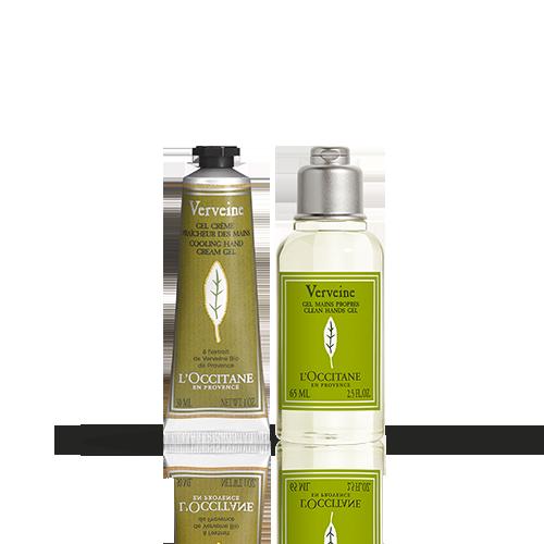 Duo Clean Handgel en Verbena Handcrème