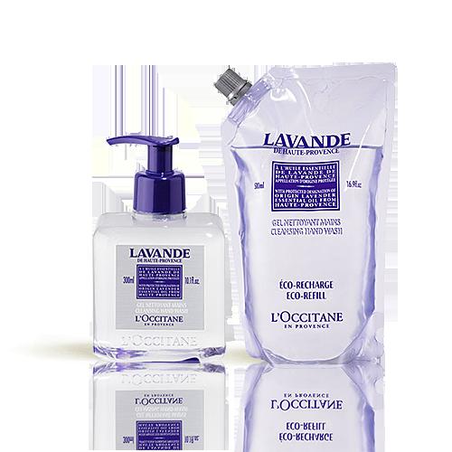 Duo Lavender Reinigingsgel Handen en Eco-refill