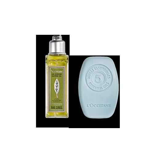 Duo Vaste Shampoo Pure Frisheid 60g en Verbena Douchegel 75ml
