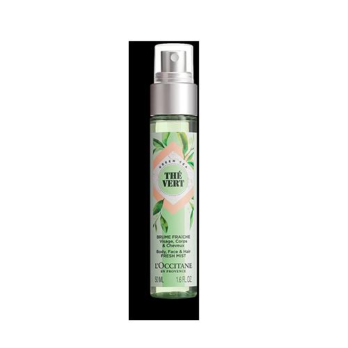 Spray Refrescante Rosto Corpo e Cabelo Chá Verde
