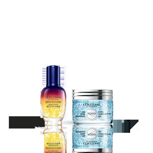 Duo Immortelle Reset Nuit e Gel Ultra Hidratante Aqua Réotier