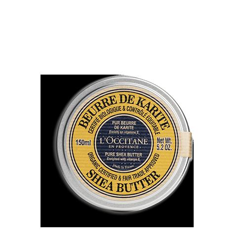 Manteiga de Karité Certificada Orgânica* e Aprovada Comércio Justo* Manteiga Pura 150ML
