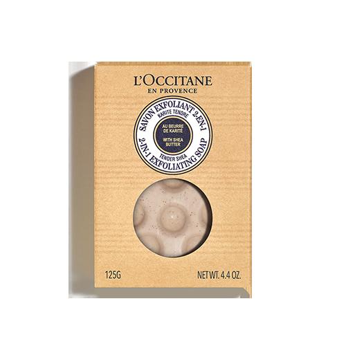 Sabonete Esfoliante 2-em-1 Karité 125gr