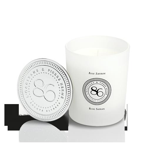 Vela Rosa Açafrão - Coleção de Parfums 86 Champs 240gr