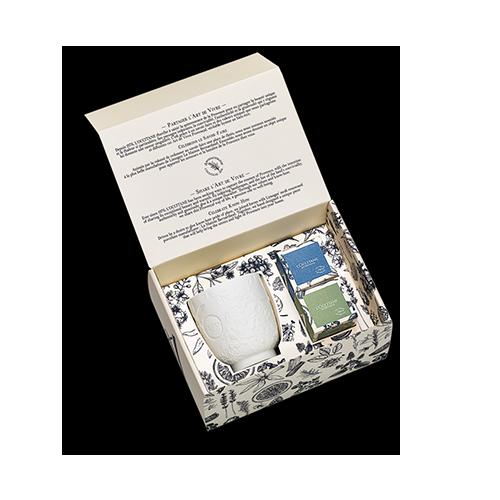 Set lumanari parfumate cu suport Provensal - Kit Luciole
