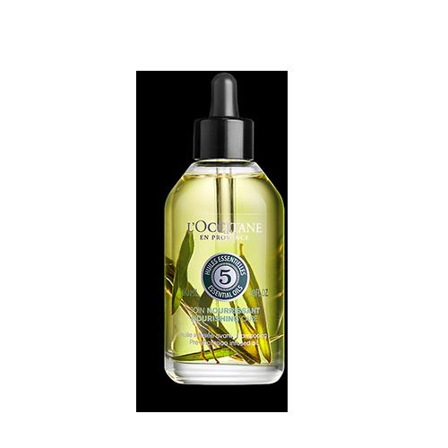 Aromakologija negujuće ulje za kosu pre šamponiranja sa listovima masline