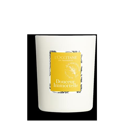Парфумована свіча КВІТКА НАТХНЕННЯ БЕЗСМЕРТНИК (Douceur Immortelle)