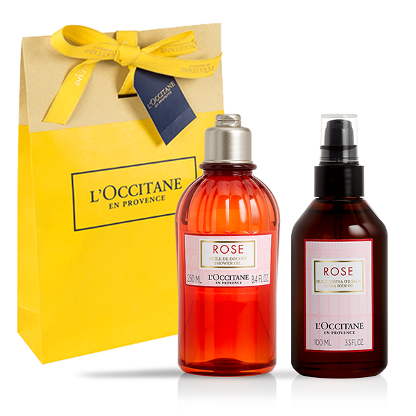 ROSE BODY AND SHOWER OIL SET