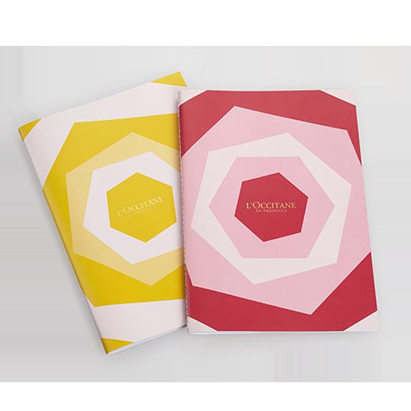 2 Rose Notebooks