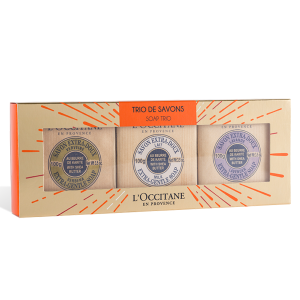 Holiday Shea Butter Soap Trio Set