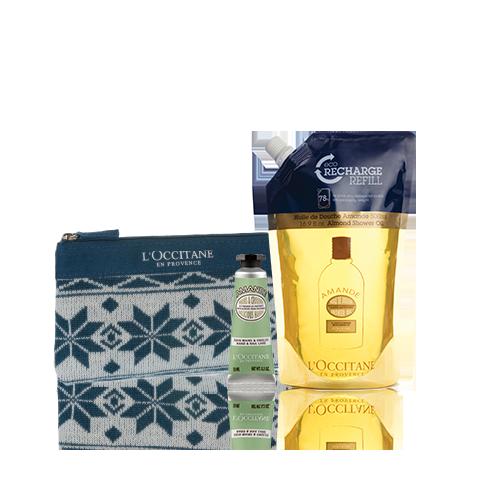 Almond Shower Oil Eco-Refill Set
