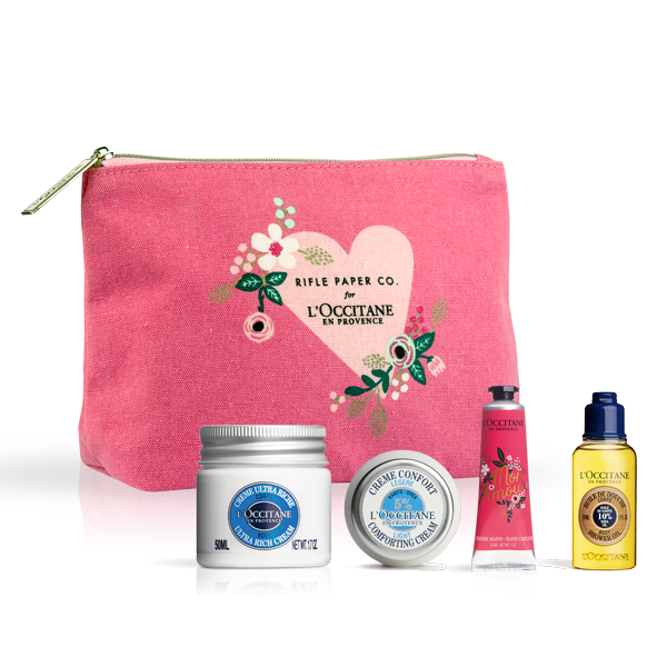 Rifle Paper Co. x L'OCCITANE Shea Butter Petit Set