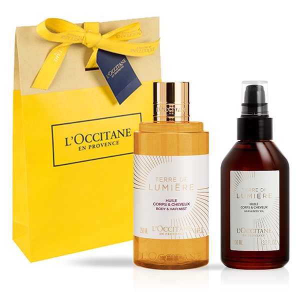 TERRE DE LUMIÈRE BODY AND SHOWER OIL SET