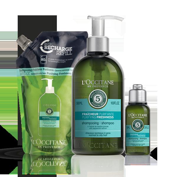 AROMACHOLOGIE Purifying Freshness Shampoo Eco-Refill Bundle