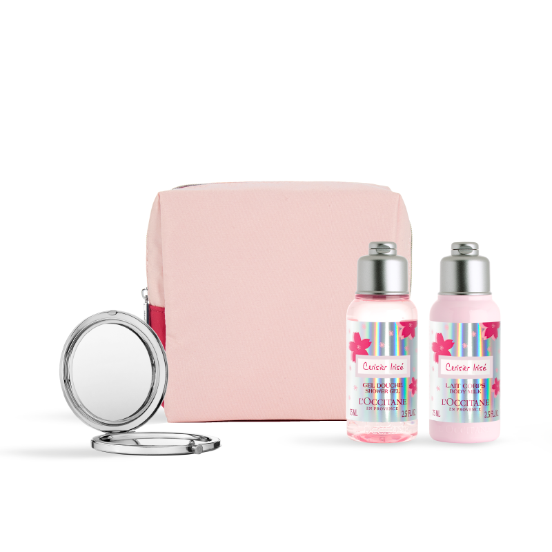Cherry Blossom Cerisier Irisé Travel Set