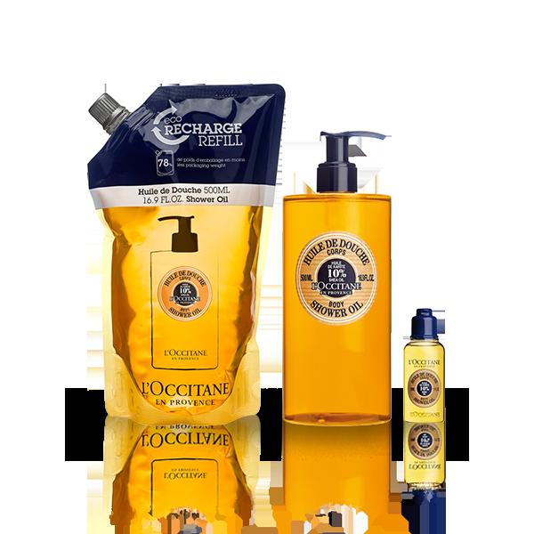 Shea Shower Oil Eco-Refill Bundle