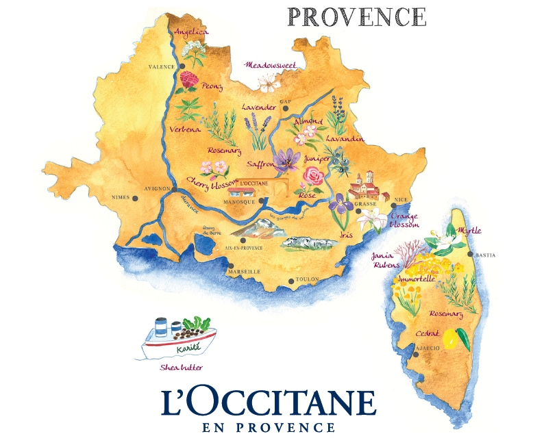 Provence map - L'Occitane