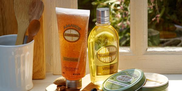 Almond Shower Oil and Scrub - L'Occitane